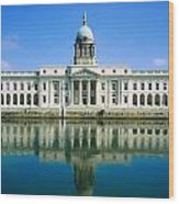 The Custom House, River Liffey, Dublin Wood Print