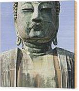 The Daibutsu Or Great Buddha, Close Up Wood Print