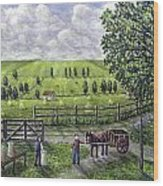 The Dairy Farm Wood Print