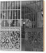 The Dakota Gates In Black And White Wood Print