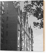 The Dakota In Black And White Wood Print