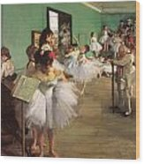 The Dance Class Wood Print by Edgar Degas