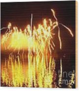 The Dance Of Fire And Water Wood Print
