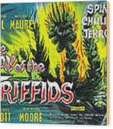 The Day Of The Triffids, British Poster Wood Print