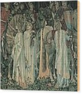 The Departure Of The Knights Wood Print