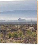 The Desert Mists And Fog Wood Print