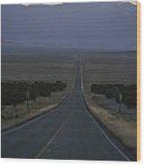 The Desolate Highway 50 Wood Print