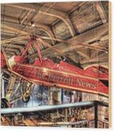 The Detroit News Airplane Dearborn Mi Wood Print