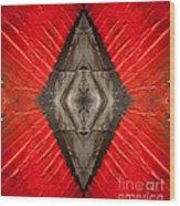 The Diamond Of Courage Wood Print