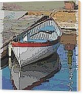 The Dinghy Wood Print