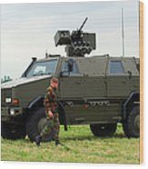 The Dingo II In Use By The Belgian Army Wood Print