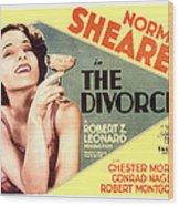 The Divorcee, Norma Shearer, 1930 Wood Print by Everett