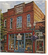 The Dixon Building In Grants Pass Wood Print