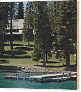 The Dock At Sugar Pine Point State Park Wood Print