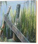 The Dock Wood Print by Juliana  Blessington