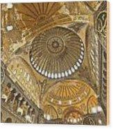The Dome Of Hagia Sophia Wood Print