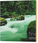 The Dosewallups River  Wood Print