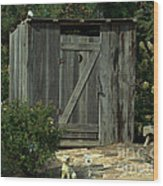 The Double Seat Outhouse Wood Print
