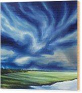 The Dragon Storm Wood Print