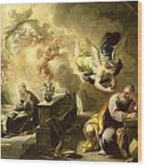 The Dream Of Saint Joseph Wood Print by Luca Giordano