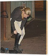 The Dressage Boots Wood Print