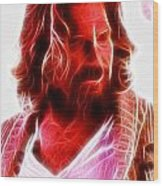 The Dude Wood Print