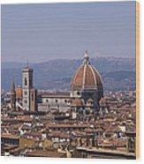 The Duomo Florence Wood Print