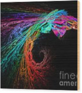 The Eagle Rainbow Wood Print
