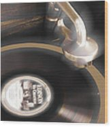 The Edison Record Player Wood Print