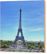 The Eiffel Tower Wood Print by Barry R Jones Jr