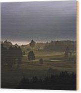 The Eighteenth Hole Wood Print