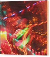 The Electric Cosmos      Nebula Traffic Jam Wood Print by Artist Orange