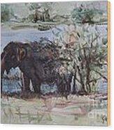The Elelphant Wood Print