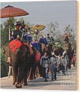 The Elephant Parade Wood Print