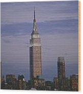 The Empire State Building Towers Wood Print