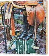 The English Saddle Wood Print