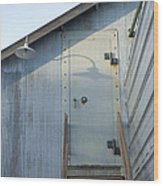 The Entry To A Metal Shed On A Sawmill Wood Print