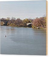 The Erie Canal Crossing The Genesee River Wood Print