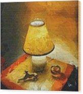 The Evening Lamp Wood Print