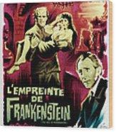 The Evil Of Frankenstein Aka Lempreinte Wood Print