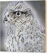 The Eye Of An Eagle  Wood Print by Yvonne Scott