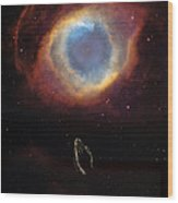The Eye Of God And Praying Hands Wood Print by Heinz G Mielke
