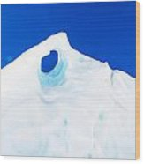 The Eye Of The Glacier Wood Print