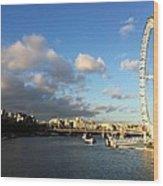 The Eye Over Thames Wood Print