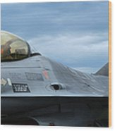 The F-16 Aircraft Of The Belgian Army Wood Print