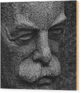 The Face Wood Print