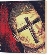 The Face Is Sowing Fertile Shadow Of The Cross Wood Print
