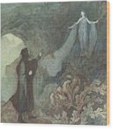 The Fairy Appearing To The Prince Wood Print by Warwick Goble