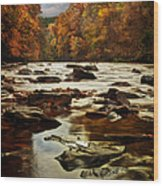 The Fall On The River Avon  Wood Print