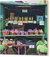 The Farmers Market Wood Print